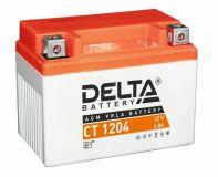 Аккумулятор СТ1204 МТ12-4 YTX4L-BS 4 а/ч 114х70х87 св кисл герм Delta