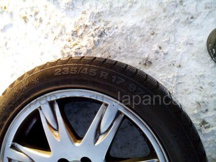 Зимние шины Continental Contivikingcontact 5 235/45 17 дюймов б/у в Челябинске