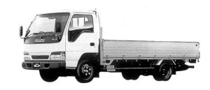 Isuzu Elf 2T WIDE CAB, FLAT LOW, LONG BODY 1998 г.