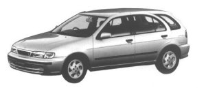 Nissan Lucino S-RV 5DOOR HATCHBACK FF 1998 г.