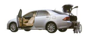 Toyota Crown Royal Saloon Welcab, Full Automatic Passenger Swivel Slide Seat Car, B type 2008 г.