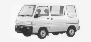 Subaru Sambar STANDARD ROOF SDX 1993 г.