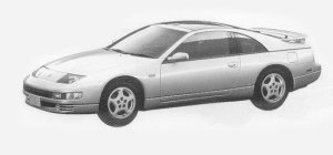 Nissan Fairlady Z 300ZX TWIN TURBO 2BY2 BAR ROOF G2 1993 г.