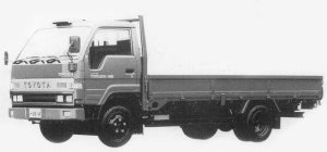 Toyota Toyoace WIDE CAB, FULL J/L, LONG DECK, 2T DIESEL 1993 г.