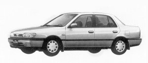 Nissan Pulsar 4DOOR SEDAN 1500J1J 1992 г.