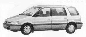 Mitsubishi Chariot MZ DIESEL TURBO 1992 г.