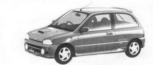 Subaru Vivio 4WD 3DOOR SEDAN RX-R 5MT 1992 г.
