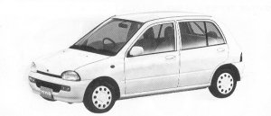 Subaru Vivio 5DOOR SEDAN EM ECVT 1992 г.