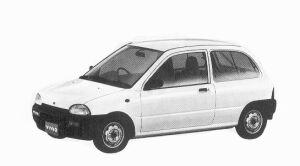 Subaru Vivio 4WD 3DOOR C 5MT 1992 г.