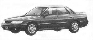 Subaru Legacy 4WD TOURING SEDAN 2.0L GT TYPE S2 1992 г.