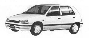 Daihatsu Charade WILL DIESEL TURBO 1.0 5DOOR 1992 г.