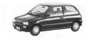 Subaru Vivio 3DOOR SEDAN EL ECVT 1992 г.