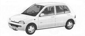 Subaru Vivio 4WD 5DOOR SEDAN EM 5MT 1992 г.