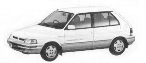 Subaru Justy 4WD 5DOOR MYMEII RF ECVT 1992 г.