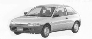 Mitsubishi Mirage 3DOOR MVV 1992 г.