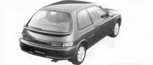 Toyota Corolla II ZS 1992 г.