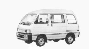 Daihatsu Hijet VAN HIGH CUSTOM HIGH ROOF 4WD 1992 г.