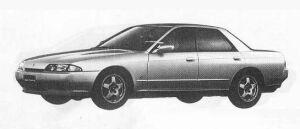 Nissan Skyline 4DOOR SPORT SEDAN GTS-T TYPE-M 1990 г.