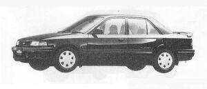 Mazda Familia SEDAN 4WD 1800DOHC TURBO GT-X 1990 г.