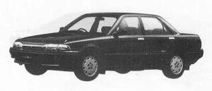 Toyota Carina 4DOOR SEDAN 1600 FULL TIME 4WD SE 1990 г.