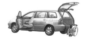 Toyota Corolla Fielder Welcab, Passenger Swivel Slide Seat Car, B type 2004 г.