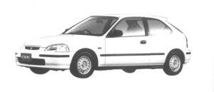 Honda Civic 3 door EL 1995 г.