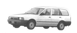 Subaru Leone VAN 1.5L 4WD 1994 г.