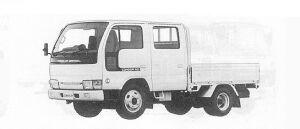 Nissan Diesel Condor 20 DOUBLE CAB, STANDARD, SUPER LOW 1991 г.