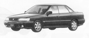 Subaru Legacy 4WD 4DOOR SEDAN 2.0L VZ TYPE-R 1991 г.
