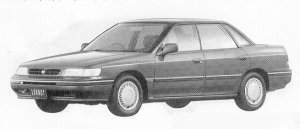Subaru Legacy 4DOOR SEDAN 1.8L TI 1991 г.