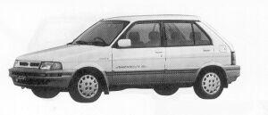 Subaru Justy 4WD 5DOOR MYMEII ECVT 1991 г.