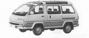 Toyota Liteace WAGON GXL 2.0 DIESEL TURBO SKY LITE ROOF 1991 г.