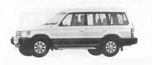 Mitsubishi Pajero KICK-UP ROOF XP 1991 г.
