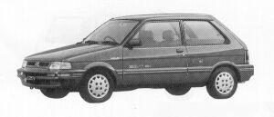 Subaru Justy 3DOOR MYME ECVT 1991 г.