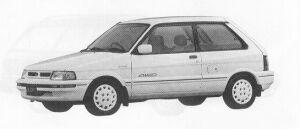 Subaru Justy 4WD 3DOOR MYME 1991 г.