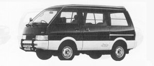 Nissan Vanette VAN 4WD DIESEL 2000 MIDDLE ROOF VX-YU 1991 г.