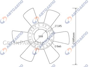 Вентилятор охлаждения Nissan
