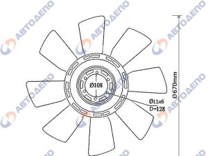 Вентилятор охлаждения MITSUBISHI