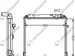 Радиатор охлаждения двигателя isuzu