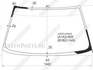 Стекло лобовое на Mitsubishi Lancer CB1A;CB2A;CB3A;CB4A;CB6A;CB8A;CD3A;CD5A;CB7A;CD7A;