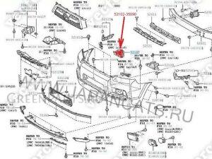 Крепление бампера на Toyota 4runner GRN280;GRN285;TRN280;TRN285