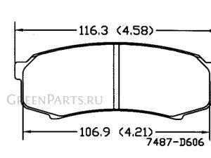 Тормозные колодки на Toyota Land Cruiser Prado GRJ121W 1GR-FE