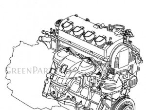 Двигатель на Honda Stream RN1, RN2