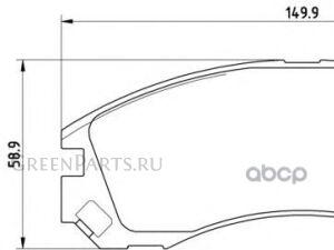 Колодки тормозные на Mitsubishi Outlander