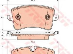 Колодки тормозные на Audi A6