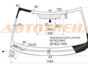 Стекло лобовое на Subaru Forester SH9, SH5, SHJ